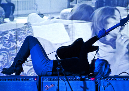 Kim Gordon performing as Body/Head