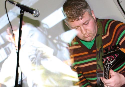 Nicholas Bullen playing bass in Light Trap